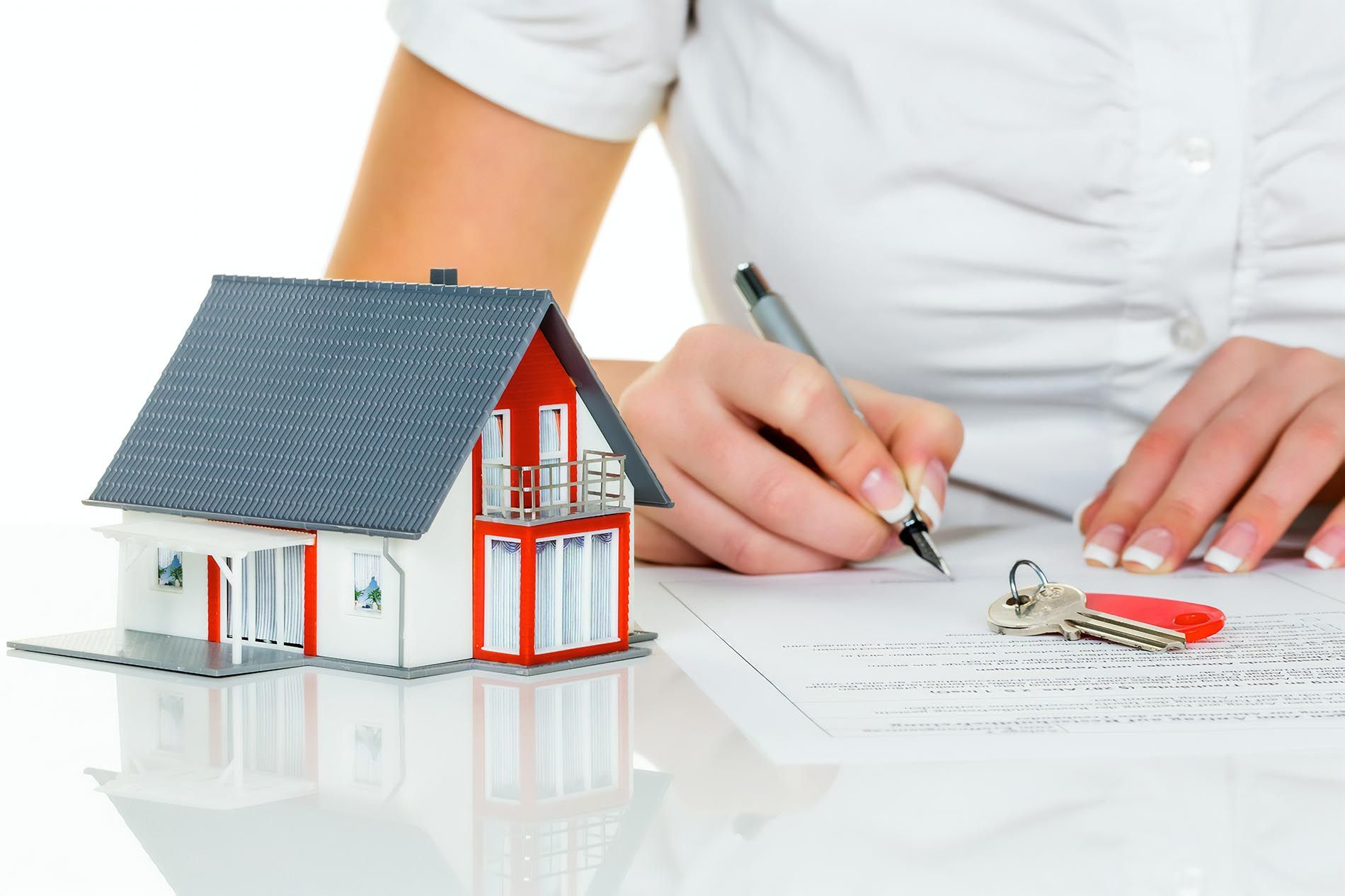 a tenant signing a contract